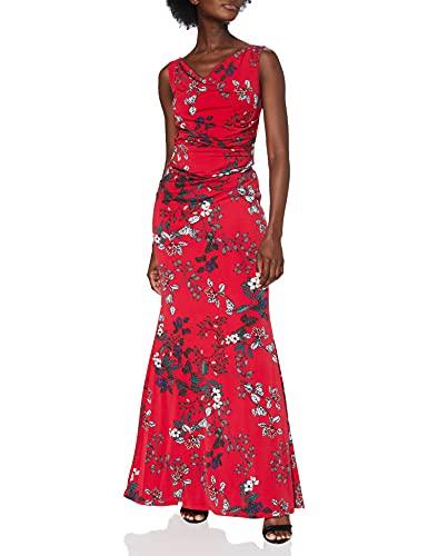 Gina Bacconi Damska sukienka maxi w kwiatowym stylu, Czerwony, 42 PL