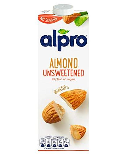 Almond Unsweetened Milk Sugar FREE Low Fat Vegeterian Drink 1 litre x 3