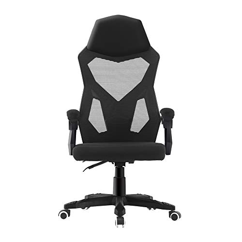 HOMEFUN Home Office Chair Height Adjustable Ergonomic Chair with Armrests Mesh Gaming Chair Comfy Desk Chair Executive Computer Chair