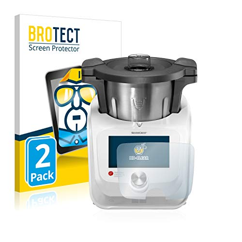 brotect Pellicola Protettiva Compatibile con SilverCrest Monsieur Cuisine Connect Pellicola Trasparente (2 Pezzi) Anti-Impronte