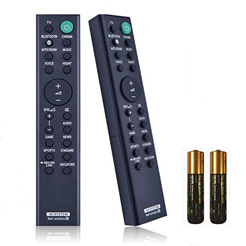 New RMT-AH500U RMTAH500U Replaced Remote Control for Sony Soundbar SA-S350 HT-SD35 HT-S350 SA-WSD35 SA-SD35 SA-WS350 Sound Bar Remote Controller with Batteries
