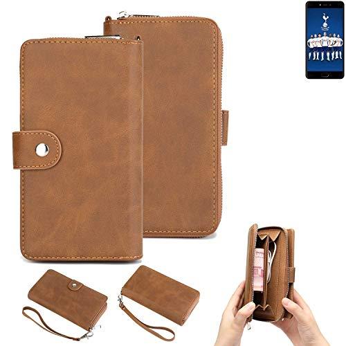 K-S-Trade Handy-Schutz-Hülle Für Leagoo T5C Portemonnee Tasche Wallet-Hülle Bookstyle-Etui Braun (1x)