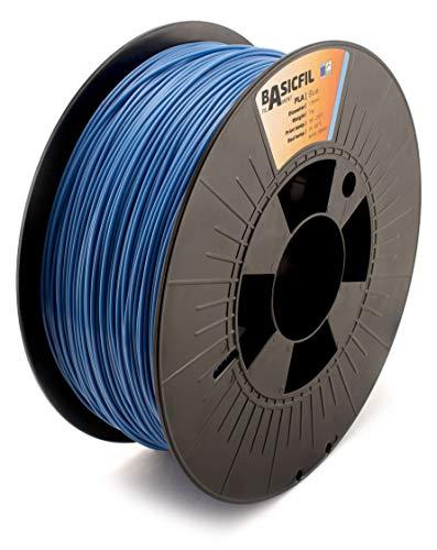 BASICFIL PLA 1.75mm, 1 kg filamento de impresión 3D, Azul