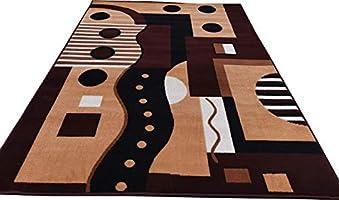 Zora Carpet Super Soft Carpet for Living Room & Bedroom Size - 6 X 8 Ft (Brown Ivory)