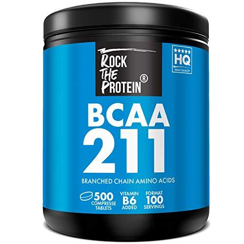 RTP  BCAA 2:1:1 + Vit B6  500 Compresse da 1000mg  Integratore Alimentare a Base di Aminoacidi Ramificati 211 Intra Pre e Post Workout per Massimizzare il Recupero Muscolare