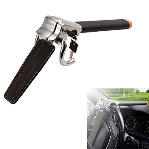 Beikalone Cerradura de volante de coche, dispositivos de bloqueo antirrobo con martillo de seguridad, ajuste universal para coches, camiones ligeros, furgonetas y SUV