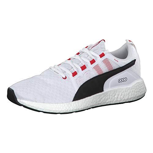 Puma NRGY Neko Turbo, Sneaker, Weiß (Puma White-Puma Black-High Risk Red 4), 45 EU (10.5 UK)