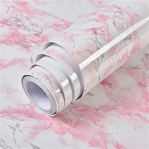 kengbi Fácil de decorar papel pintado duradero popular impermeable autoadhesivo para decoración de pared de baño PVC vinilo mármol papel de contacto para encimeras de cocina Peel and Stick