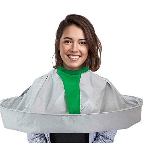 Haar Schneideumhang Regenschirm,Haarschnitt für Erwachsene Haarschnittumhang wasserdichtes Stereo-Haarschnitt-Lätzchen Haushaltshaarschnitt-Tuch