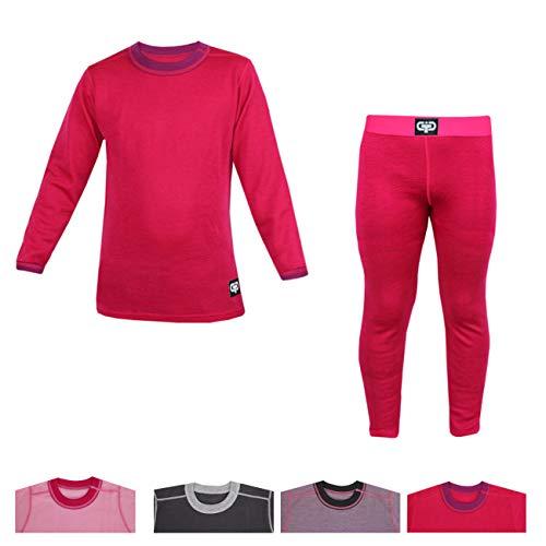 Galeja Galeja TuTu Mädchen Unterwäsche Set lang Winter Merinowolle Premium Qualität Pink 110-116