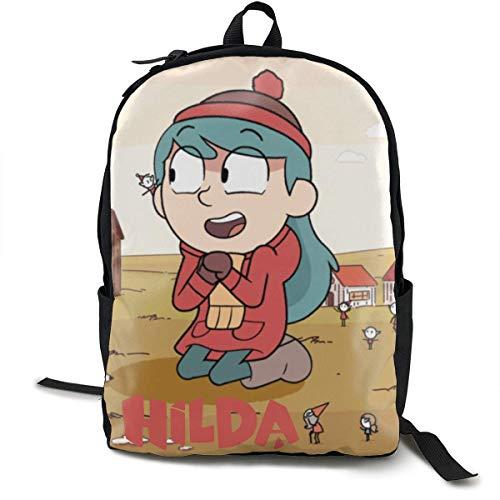 HuangYongHongPODFPO Hilda School Rucksack Tasche High Middle Bookbag für Männer Frauen Jungen Mädchen
