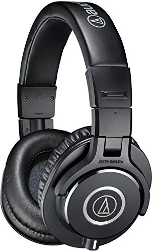 Audio-Technica ATH-M40x Professional Studio Monitor Headphone, Black,...