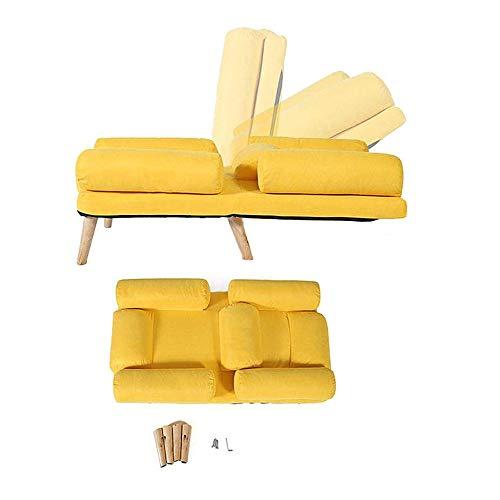 wyingj Nordic Leisure - Sofá cama reclinable para cama individual, respaldo ajustable, sillón con reposapiés para dormitorio, balcón, reclinable, varios colores