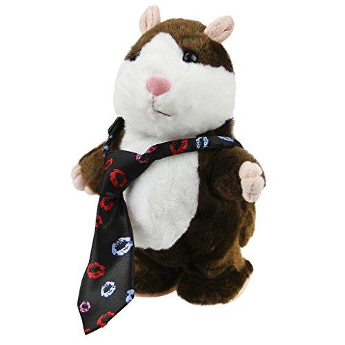 LY Doudou Peluche Bébé Jouet Velours Jouet Bébé 1er Age Hamster Imitation Marchant Parlant Peluche Mignon Amuser Meilleur Cadeau Noël/ Anniversaire
