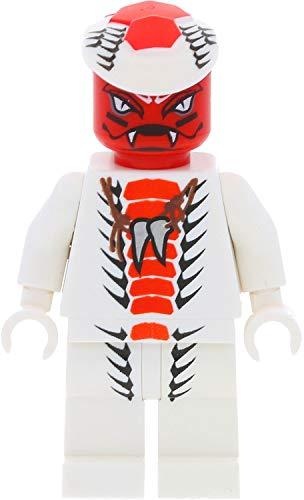 LEGO Ninjago Minifigur Snappa aus Set 9442 mit 2 Bonus Schwertern