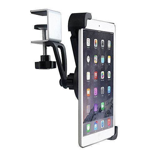 EXSHOW Tablet Stand, Adjustable Mount Holder : Desk Kitchen Cabinets Compatible with for iPad 2018 2017 iPad Pro 10.5/9.7, Air mini 2 3 4, Samsung Galaxy Tab and 7-10.5 inch Tablets
