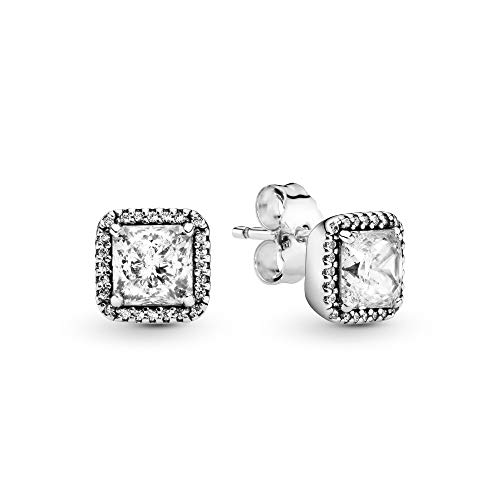 Pandora Jewelry - Timeless Elegance Stud Earrings in Sterling Silver with Clear Cubic Zirconia