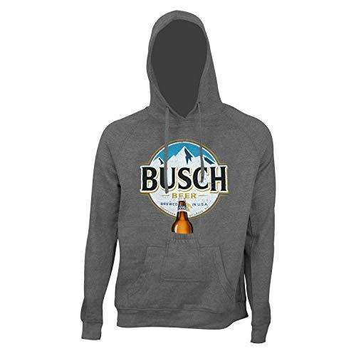 BUSCH Round Logo Bier Pouch Hoodie X-Large