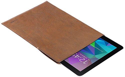 PEDEA Echtleder Tasche/Hülle für Acepad A96, Artizlee 10.1, XIDO Z120/3G, Xoro TelePAD 96A3, Samsung Galaxy Tab S 10.5, tobacco