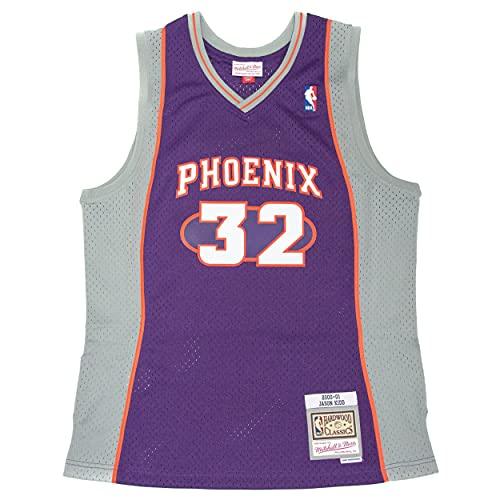 Mitchell & Ness NBA Swingman Jersey 2.0 P. Suns 1999-00 J. Kidd # 32 - Jersey para niño, color morado, Morado Gris Naranja, XL