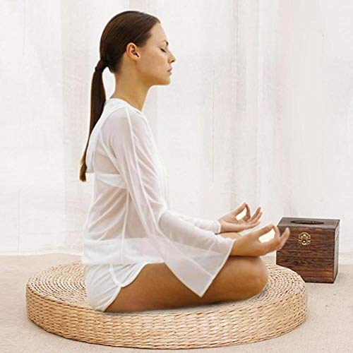 40cm rundes Stroh Meditation weiches Yoga Mat Pouf Tatami Kissen Bodenkissen Meditation Yoga rundes Mat Kissen
