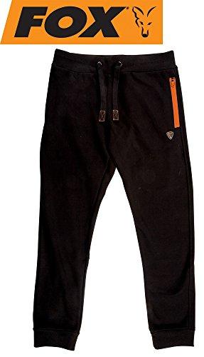 Fox Black/Orange Joggers Angelhose, Anglerhose, Hose für Angler, Angelhosen, Anglerhosen, Jogginghose, Größe:M