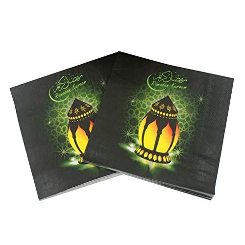 BESTonZON - Servilletas desechables de papel (50 hojas/2 paquetes de servilletas de impresión de colores, estilo árabe