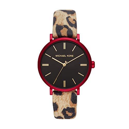 Michael Kors Women's Addyson Aluminum Quartz Watch with Leather Strap, Multicolor, 18 (Model: MK2931)