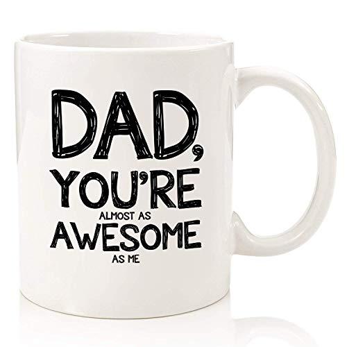 Papá, taza de café divertida casi tan impresionante Los mejores regalos de Navidad para papá, hombres Único Navidad Gag Dad