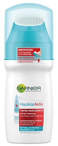 Garnier Hautklar Aktiv Tiefen-Rein Anti-Pickel Bürste, 1er Pack (1 x 150 ml)