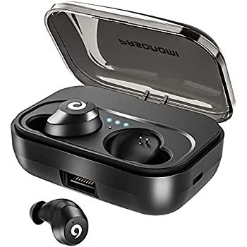 Amazon Com Pasonomi Bluetooth Earbuds Wireless Headphones Bluetooth Headset Wireless Earphones Ipx7 Waterproof Bluetooth 5 0 Stereo Hi Fi Sound With 2200ma Charging Case 2019 Version Black