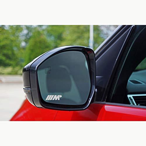 Autodomy Pegatinas Compatible con BMW M Corazón Pack de 6 Unidades en Vinilo ácido para los Espejos del Coche