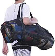 XXL Mesh Dive Bag for Scuba or Snorkeling - Diving Snorkel Gear Bags - Extra Large Beach Bags and Totes with Zipper and Pockets - Oversized Beach Duffle Bag Ideal for Your Pool Trip