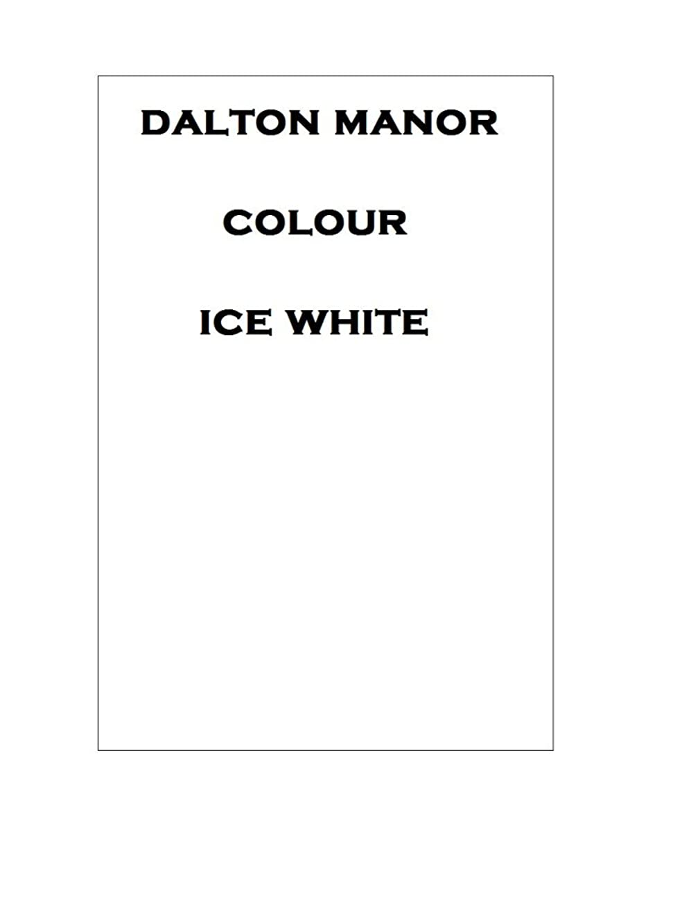 Dalton Manor A4 Coloured Card 250 Sheet Pack 160gm Supplied in a Weston Clear Craft Storage Box - White 160gm