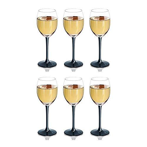 Rotweinglas mit langem, schwarzem Stiel, in Geschenkbox, 250 ml, 6 Stück