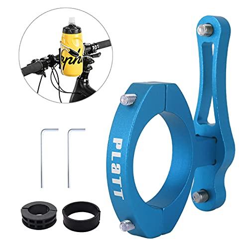 Platt Adaptador para portabidon Bicicleta,Adaptador Soporte Botellas de Aluminio para MTB/Carretera,Tija de Sillín Manillar Clip Holder Mount Clip Soporte