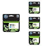 HP Cian, Cartucho de Tinta, Compatible con impresoras de...