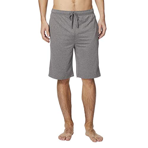 32 DEGREES Mens Cool Knit Wicking Lounge Short, Heather Grey, Size Small