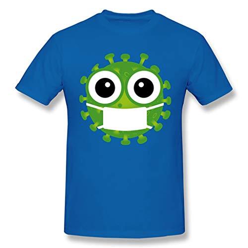 2020 Coron_avirus I Surviving Funny T-Shirt Cov_id 19 T-Shirt Female (Color : Blue, Size : XXL)