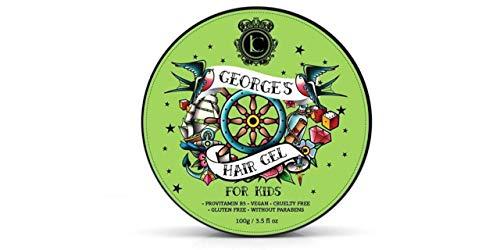 Georges Haargel Kinder Haar Styling Pomade - Starkes Haar Wax für Jungen und Mädchen Haarpflege - Grün Apfel Haar Clay Pomade Bestes Geschenke für Jugendliche 150 ml