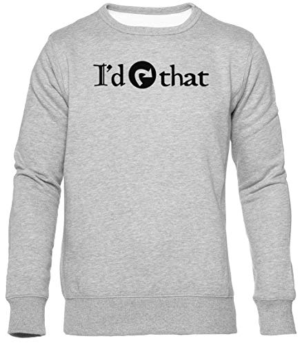 ID Tap That Unisexo Gris Sudadera Hombre Mujer Mangas Cortas Tamaño L Unisex Grey Jumper Long Sleeves Size L