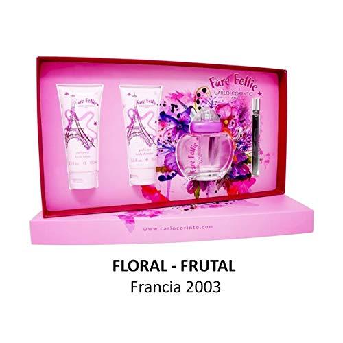 Set Fare Follie 4Pzs 100 ml Edt Spray + Body Shampoo 100 ml + Body Lotion 100 ml + 10 ml Body Oil de…