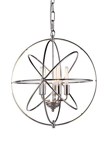 Elegant Lighting Vienna Collection 5-Light Pendant Lamp, Polished Nickel Finish