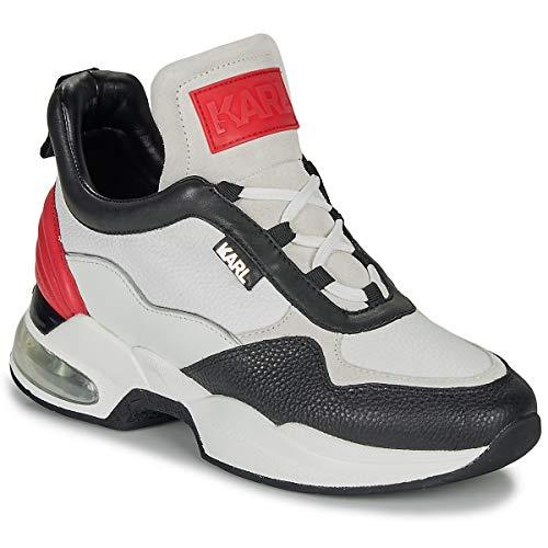 Karl Lagerfeld Ventura Lazare MID II LTHR Sneaker Damen Weiss/Rot/Schwarz - 40 - Sneaker Low
