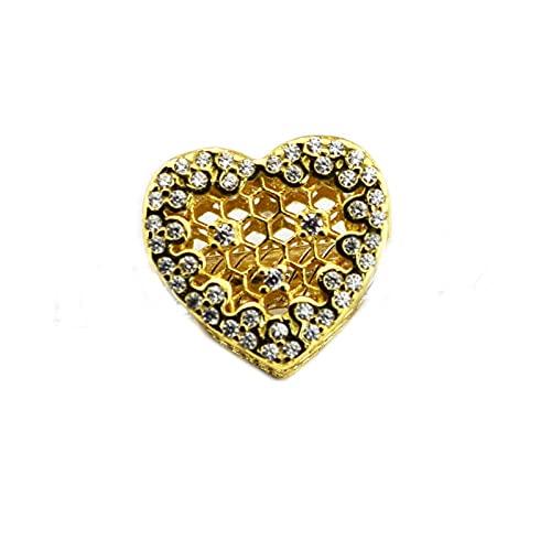 LIIHVYI Pandora Charms para Mujeres Cuentas Plata De Ley 925 Joyas Amarillas De Encaje De Nido De Abeja Compatible con Pulseras Europeos Collars