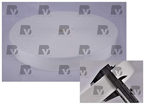 BESTVALUETHINGS (10 metros) Cinta de polipropileno de 40 mm, multiusos, color blanco, para manualidades, mochila, banderines, bolsas, cinturones, etc.