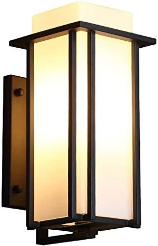 XWZH Lámpara de Pared de ático Antigua Lámpara de Pared de Hierro Forjado Impermeable al Aire Libre, Cubierta de Vidrio de Leche de Hierro, Base E27, al Aire Libre/terraza/balcón/Puertas/fachadas /