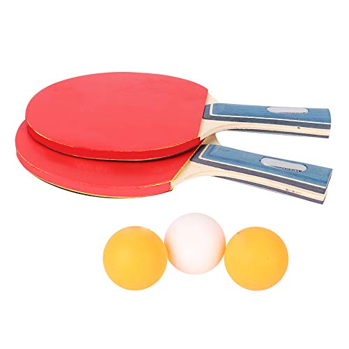 Find Bargain Ruiqas Ping Pong Paddle Set Including 2Table Tennis Bat Racke 3 Balls for Beginners Stu...