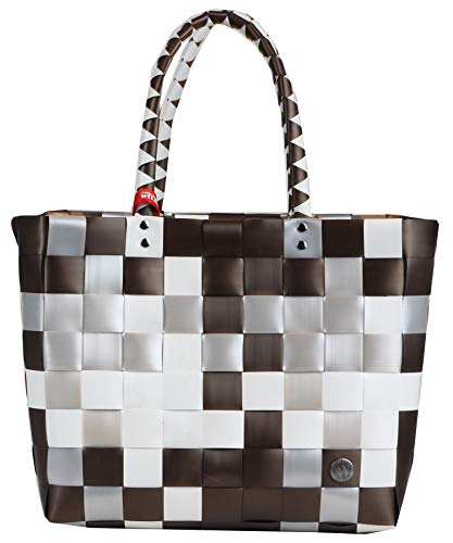 Witzgall Shopper Vintage Style 5010 57 BELLA braun, 32cm x 24cm x 28cm, Einkaufstasche, Einkaufsshopper