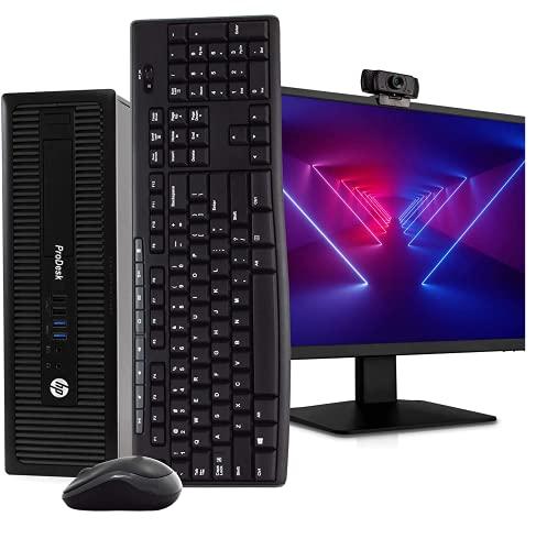 HP 600 G1 SFF Computer Desktop PC, Intel Core i5 3.2GHz, 16GB Ram, 128GB M.2 SSD, 1TB HDD, Wireless Keyboard & Mouse, WiFi | Bluetooth, New 1080p Webcam, 22' FHD LED Monitor, Win 10 Pro (Renewed)